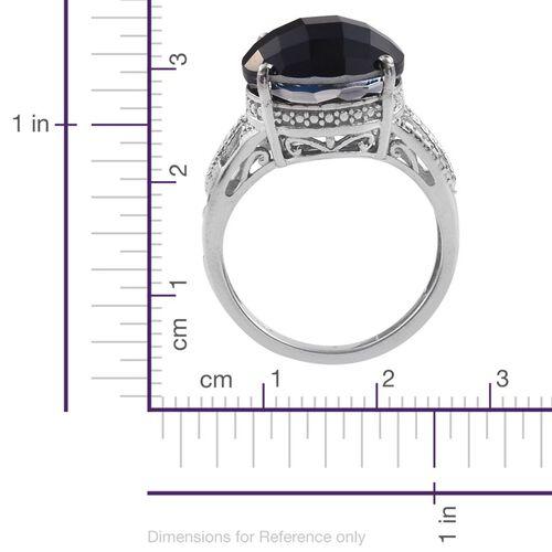 Ceylon Colour Quartz (Rnd) Solitaire Ring in Platinum Overlay Sterling Silver 8.000 Ct.