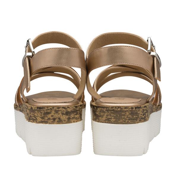 Ravel Monto Flatform Sandals (Size 7) - Rose Gold and Tan