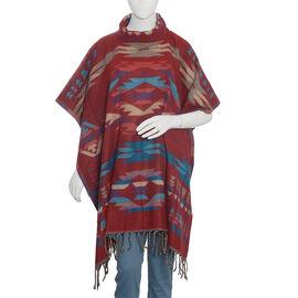 Free Size Red Colour Kaftan (Size 100x87 Cm)