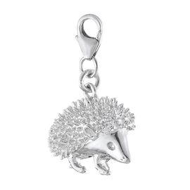 Charmes De Memoire - Platinum Overlay Sterling Silver Hedgehog Charm, Silver wt 6.90 Gms.