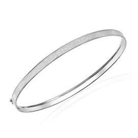 9K White Gold Stardust Bangle (Size 7.5)