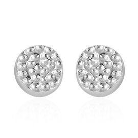 RACHEL GALLEY Rhodium Plated Sterling Silver Shimmer Stud Earrings (with Push Back)