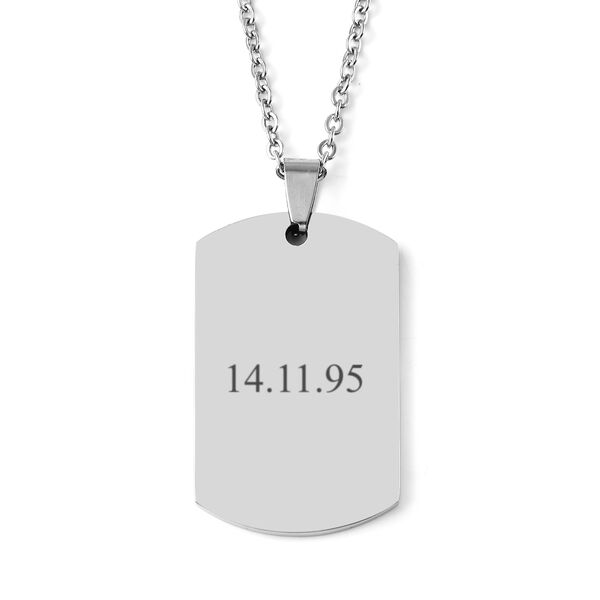 Personalised Engravable Gents Dog tag in Stainless Steel