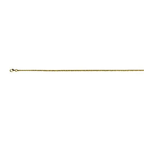 Italian Made - Yellow Gold Overlay Sterling Silver Diamond Cut Rock Bracelet (Size 7.5)