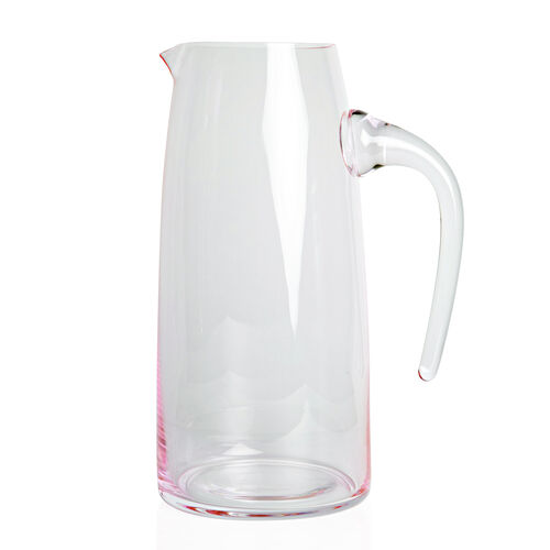 Pitcher in Light Pink Coloured Glass, 1.5 Liter Capacity