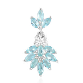 Paraibe Apatite Pendant in Sterling Silver 1.00 Ct.