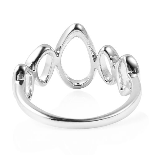 LucyQ Fluid Design Ring in Rhodium Overlay Sterling Silver