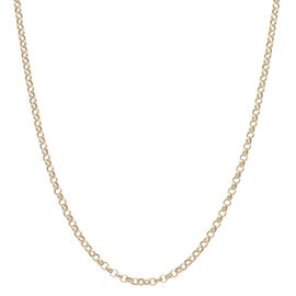 Close Out Deal 9K Yellow Gold Belcher Necklace (Size 24), Gold Wt. 4.37 Gms