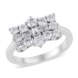 RHAPSODY 950 Platinum IGI Certified Diamond (Rnd) (VS/E-F) Boat Cluster Ring 1.000 Ct.