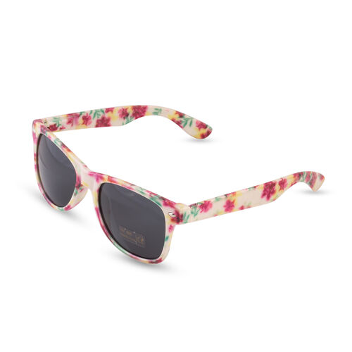 Elizabeth Rose Sunglasses - White and Multi Colour
