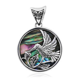 Royal Bali Collection Abalone Shell Humming Bird Pendant in Sterling Silver 5 Grams