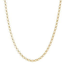 Hatton Garden Close Out 9K Yellow Gold Belcher Necklace (Size 22) with Lobster Clasp, Gold wt 21.50