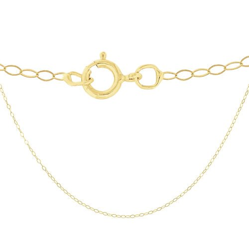 9K Yellow Gold Adjustable Trace Chain (Size 18)