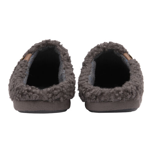 Dunlop Mens Ross Cosy Slippers (Size 9) - Charcoal