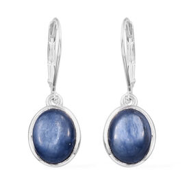 One Time Mega Deal- High Luster Kyanite (Ovl 10x8 mm) Lever Back Earrings in Sterling Silver 6.00 Ct