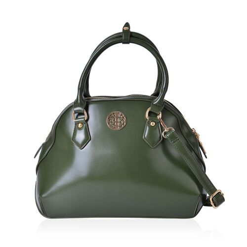 Timeless Collection Green Tote Bag with Adjustable and Removable Shoulder Strap (Size 33X23.5X14 Cm)
