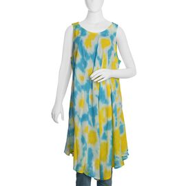 Yellow and Blue Colour Umbrella Dress (Size 116x132 Cm)