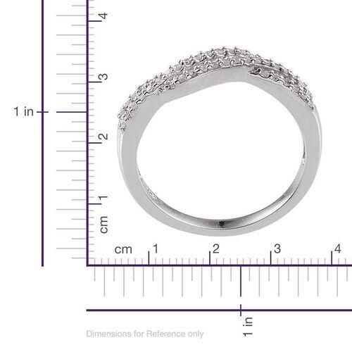 Diamond (Rnd) Ring in Platinum Overlay Sterling Silver 0.330 Ct.
