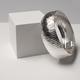 JCK Vegas Collection Rhodium Plated Sterling Silver Diamond Cut Cleopatra Bracelet (Size 7.5), Silver wt. 32.00 Gms.