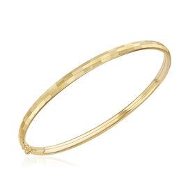 Diamond Cut Bangle in 9K Gold in 7.5 Inch