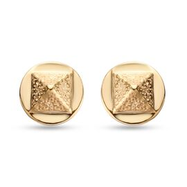 Sundays Child 14K Gold Overlay Sterling Silver Earrings (with Push Back)
