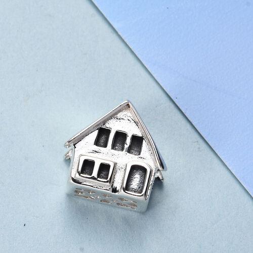 Charmes De Memoire Platinum Overlay Sterling Silver Home Charm