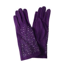 DOD - Philomena Diamante Detail Gloves - Black