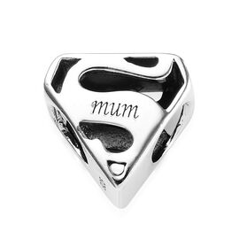Charmes De Memoire Mum Charm in Platinum Plated Sterling Silver