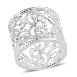 Designer Inspired Sterling Silver Band Ring, Silver wt 4.60 Gms.