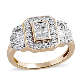 Limited Edition- ILIANA 18K Yellow Gold IGI Certified Diamond (Princess Cut) (SI-GH) Invisible Set R