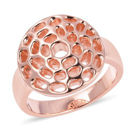 RACHEL GALLEY Enkai Sun Small Disc Ring in Rose Gold Plated Silver 5.26 Grams