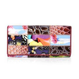 One Time Close Out Deal Multi Colour Wallet (Size 18.5x3x9 Cm) - Nature
