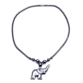 Hematite Elephant Necklace with Magnetic Lock 275.000  Ct.