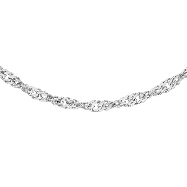 RHAPSODY 950 Platinum Twisted Curb Chain (Size 18) with Spring Ring Clasp