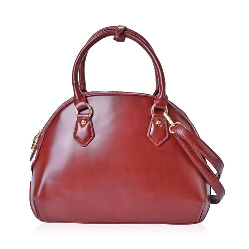 Timeless Collection Brown Colour Tote Bag with Adjustable and Removable Shoulder Strap (Size 33X23.5X14 Cm)