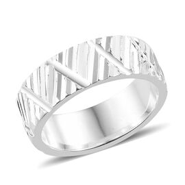 Sterling Silver Band Ring, Silver wt 4.43 Gms.