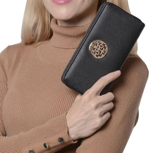 Classic Black RFID Long Clutch Wallet