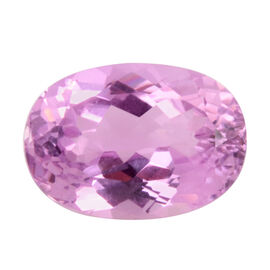 AAAA IGI Certified Kunzite Faceted Oval 14.12x10.07 7.580 Cts  -(13465202)
