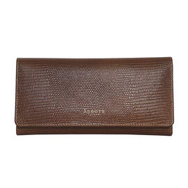 Assots London CLAIRE - 100% Genuine Leather Wallet (20x1.5x10cm) - Tan