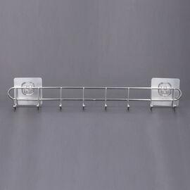 Eight Stainless Steel Hook Rack