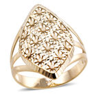 Royal Bali Floral Ring (Size T) in 9K Gold