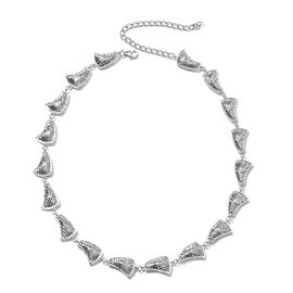 Isabella Liu - Sea Rhyme Collection - Rhodium Overlay Sterling Silver Necklace (Size 20), Silver wt