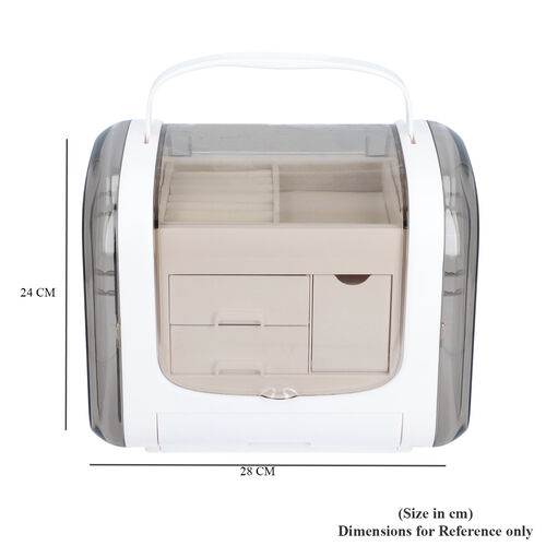 White Colour Innovative Jewellery Box with 2 side Doors and Removable Top