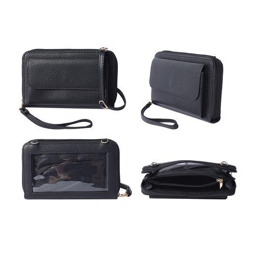 2 Piece Set - Black RFID Crossbody Bag and 4000mAh Wireless Power Bank