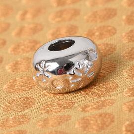 Charmes De Memoire Platinum Overlay Sterling Silver Snowflake Charm