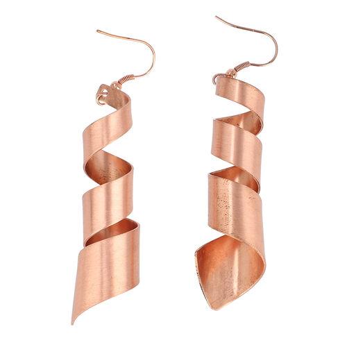 Matte Spiral Hook Earrings