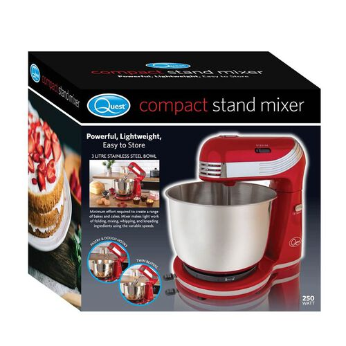 Compact Stand Mixer - 6 Speed - Red - 250 Watts