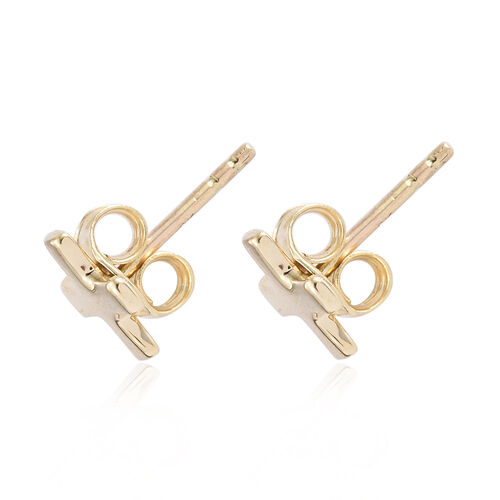 9K Yellow Gold Studs Earrings