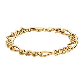 Hatton Garden Close Out 9K Yellow Gold Figaro Bracelet (Size 8)