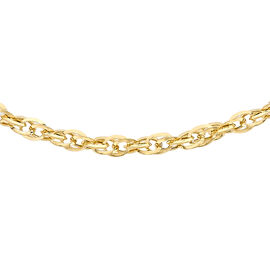 Italian Made 9K Yellow Gold Diamond Cut Prince of Wales Necklace (Size 18), Gold wt 1.80 Gms.